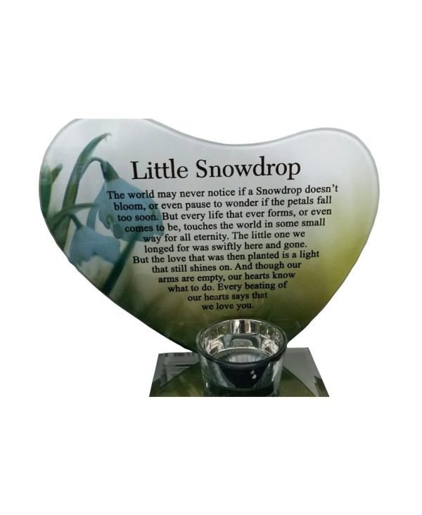 Glass-Photo-Frame-Memorial-Candle-Holder-Family-Decoration-Little-Snowdrop