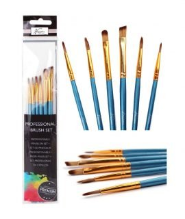 Art Sensations AR0803/GE Nassau Fine Art Brush Set, White, Normal