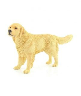 Leonardo-Collection-Retriever-Ornament-Dog-Stone-Gold-