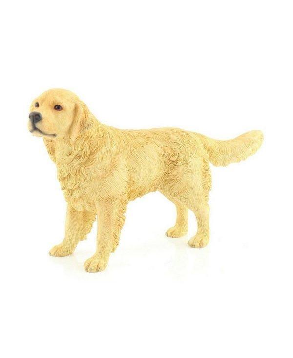 Leonardo-Collection-Retriever-Ornament-Dog-Stone-Gold-