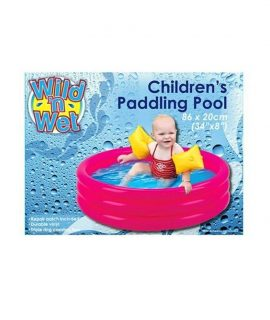 PMS 34x8 3-RING PADDLING POOL IN PBOX. 2 ASST PLAIN COLS