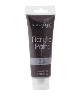 Work of Art 120 ml Acrylic Paint – Brown, 6729