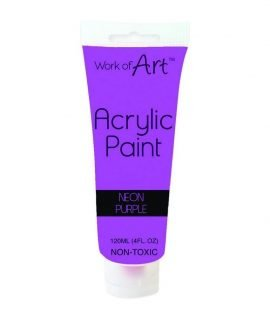 Work-of-Art-Acrylic-Paint-Neon-Purple