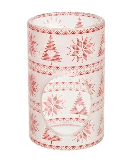 Yankee Candle Mountian Holiday Red Nordic Frosted Wax Warmer